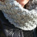 Snood en tricot