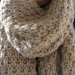 Tricoter echarpe facile
