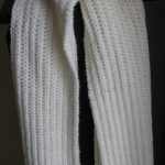 Tricot écharpe femme