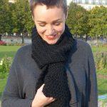 écharpe facile à tricoter