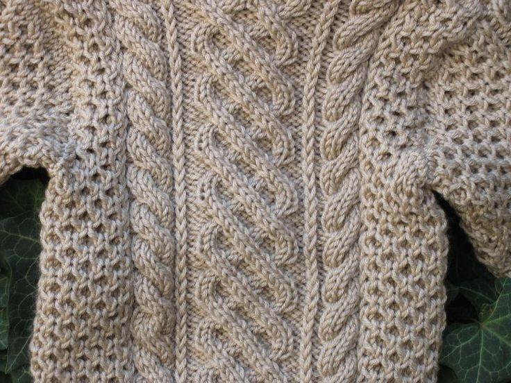 modele pull irlandais a tricoter gratuit