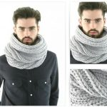 Tuto snood homme tricot