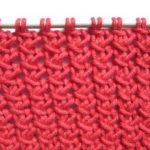 Point de tricot simple
