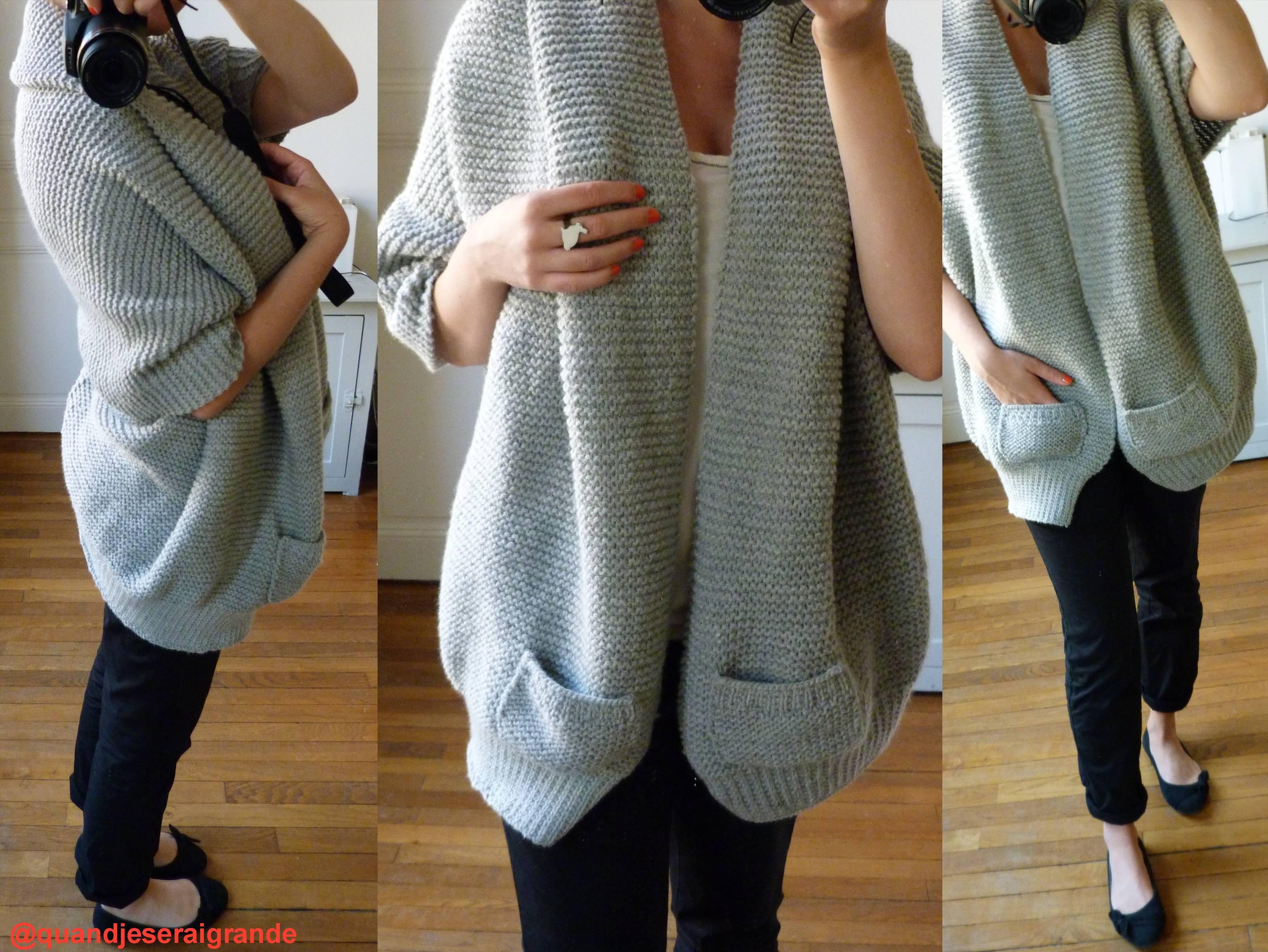 tricoter un gilet en laine