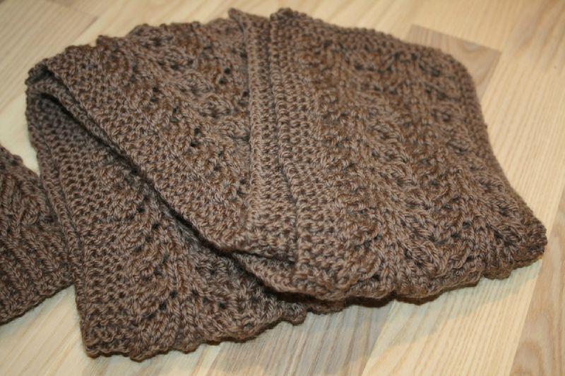tricot echarpe femme modele