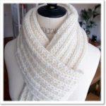 Tricoter grosse echarpe