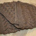 Echarpe femme tricot main