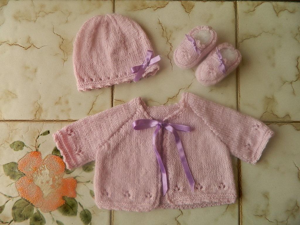 01c9af79c0cfb Tricot layette naissance fille - Laine et tricot