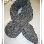 écharpe à tricoter modèle gratuit