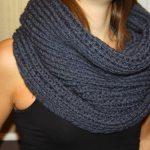 Modele gratuit de snood a tricoter facile