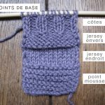 Different point de tricot pour debutant