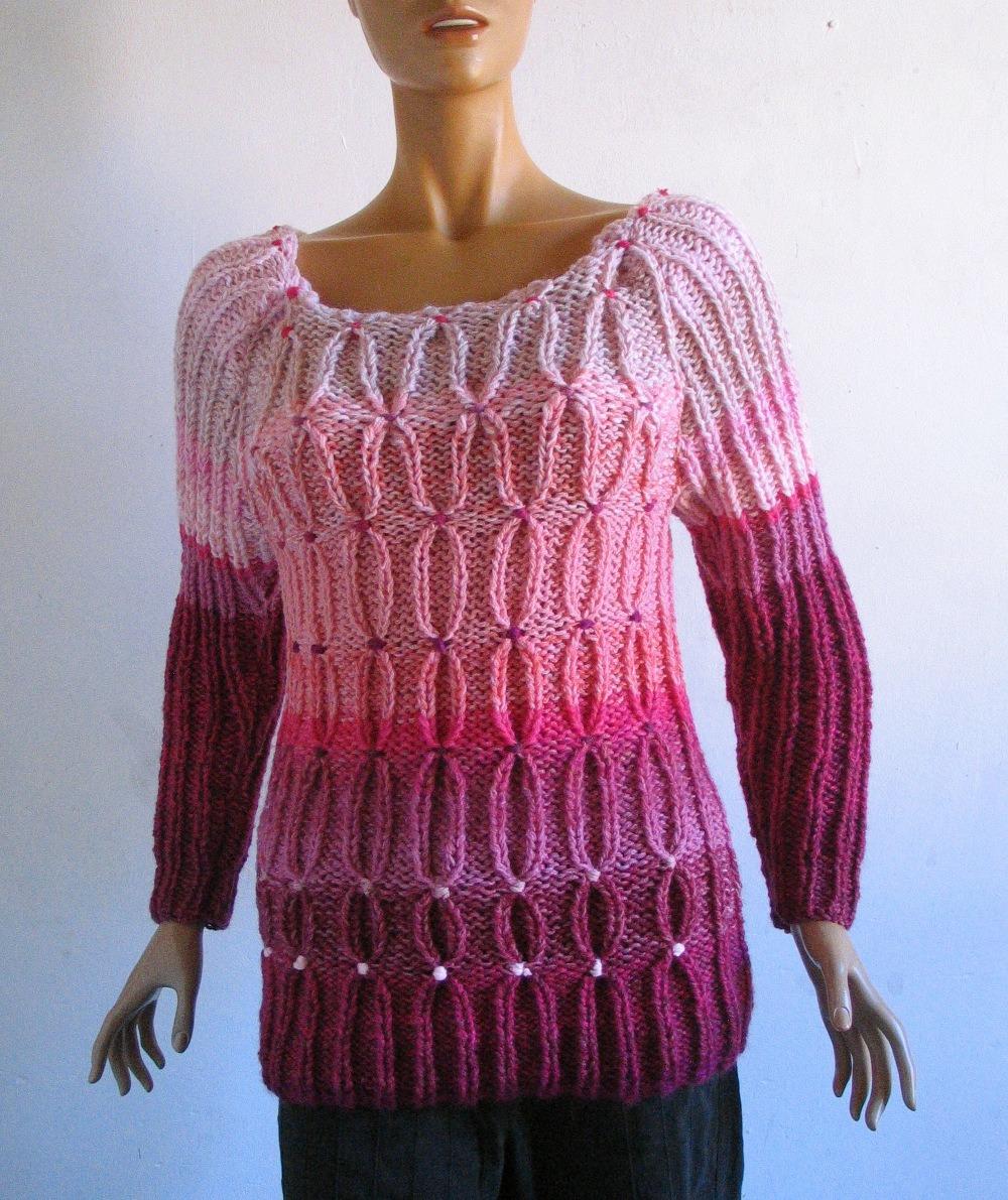 Gilet laine femme fait main