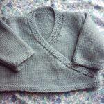 Modele gratuit layette tricot