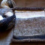 Echarpe tricot debutant