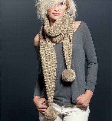 Modele echarpe femme a tricoter laine et tricot - Tricoter une echarpe facilement ...