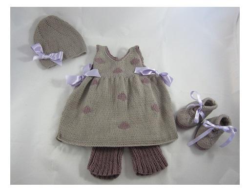 e742f407a5bd6 Modele layette fille - Laine et tricot