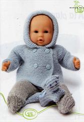 tricoter vetements poupon