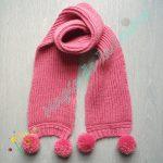 Echarpe fille tricot