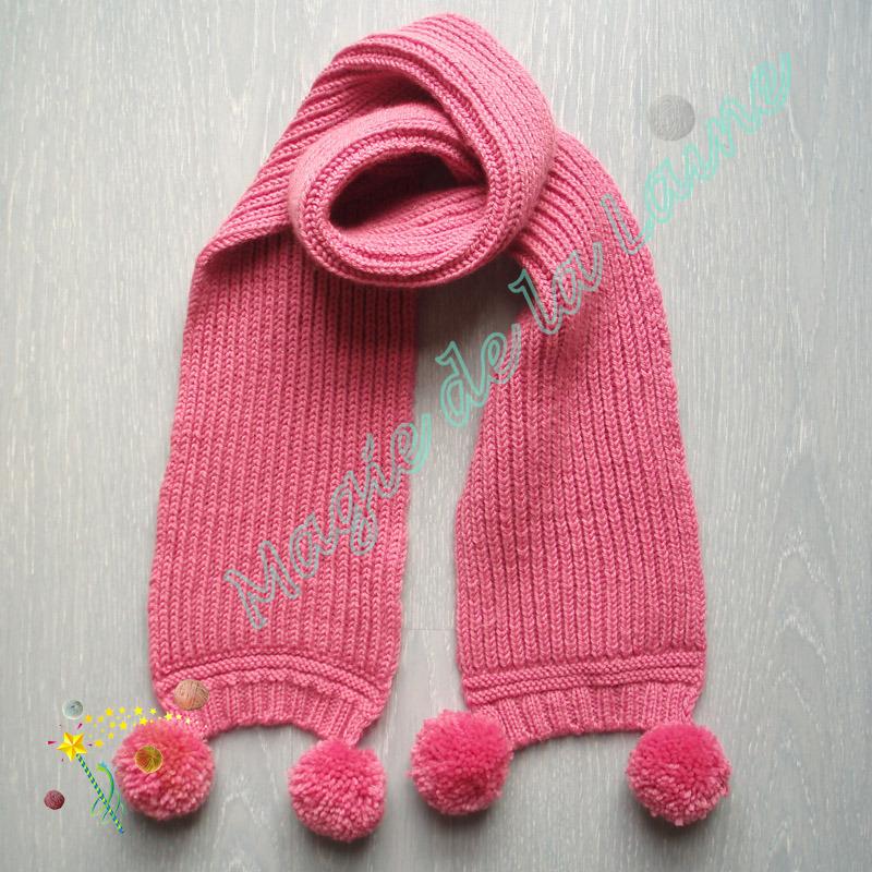 echarpe fille tricot laine et tricot. Black Bedroom Furniture Sets. Home Design Ideas
