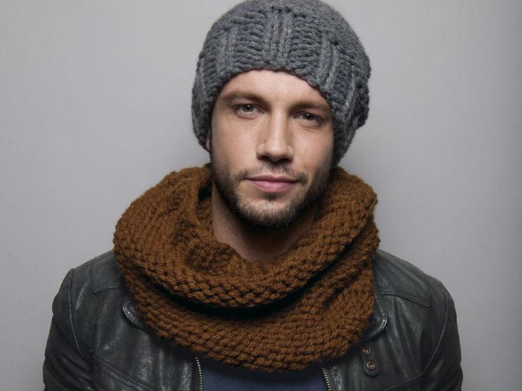 tricoter un snood pour homme facile