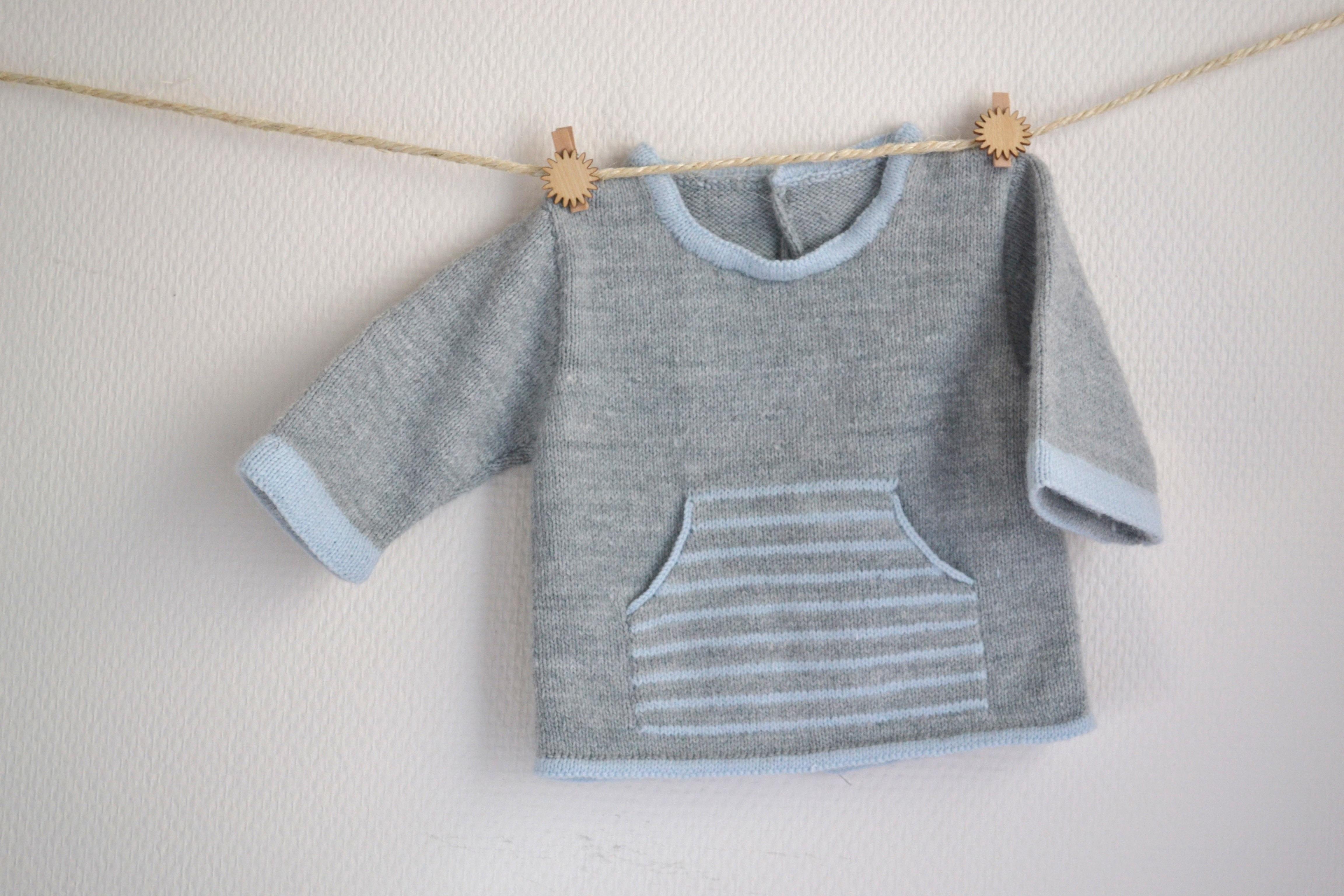 modele gratuit tricot bebe facile